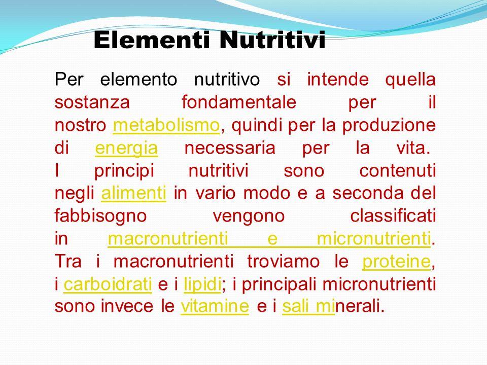 Elementi Nutritivi