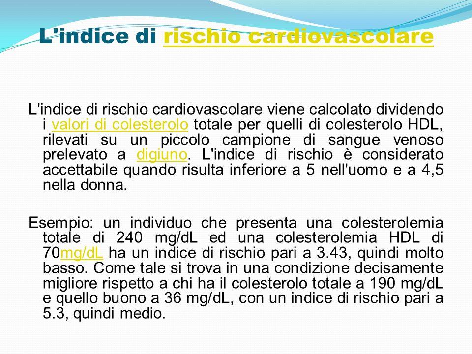 L indice di rischio cardiovascolare
