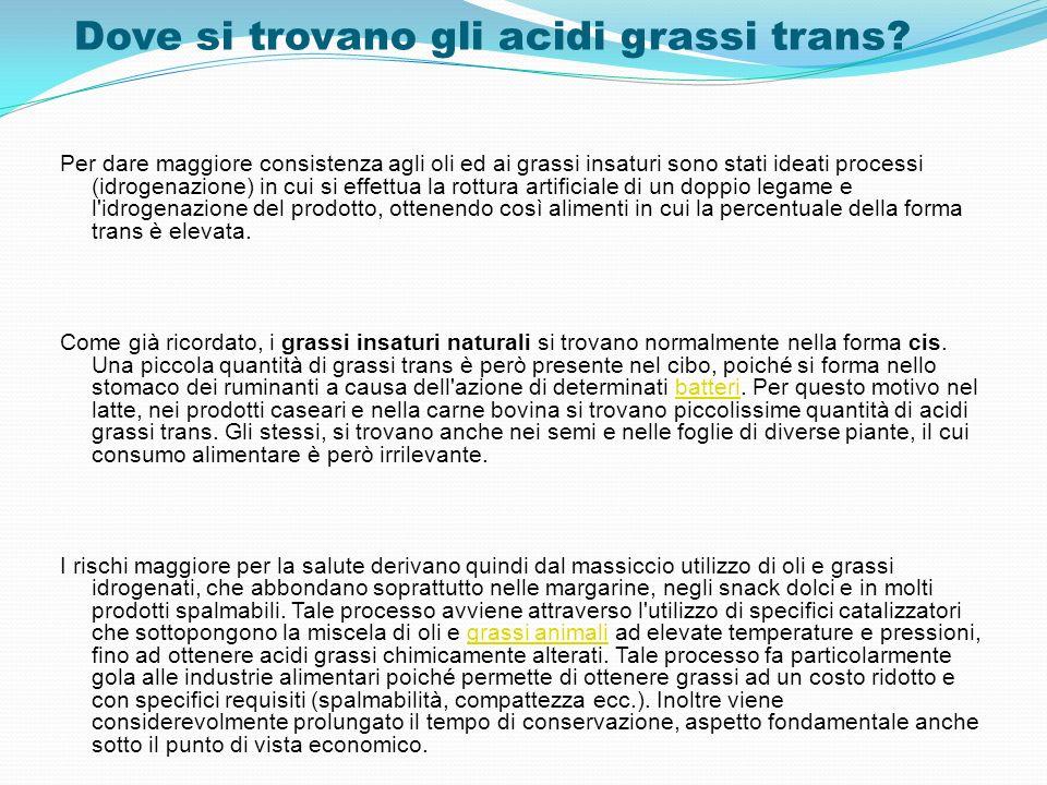 Dove si trovano gli acidi grassi trans