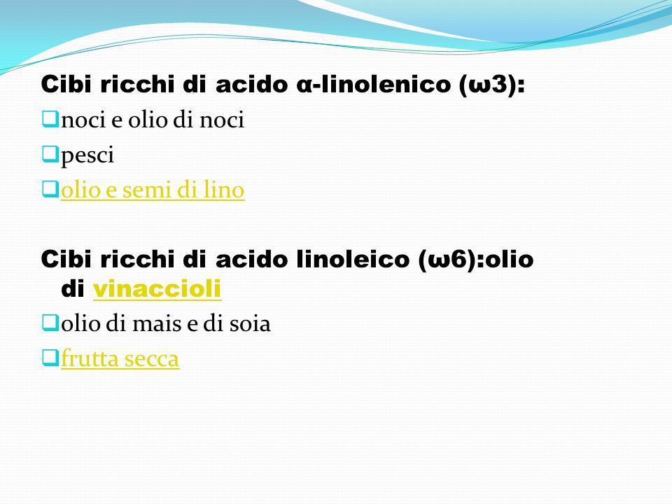 Cibi ricchi di acido α-linolenico (ω3):