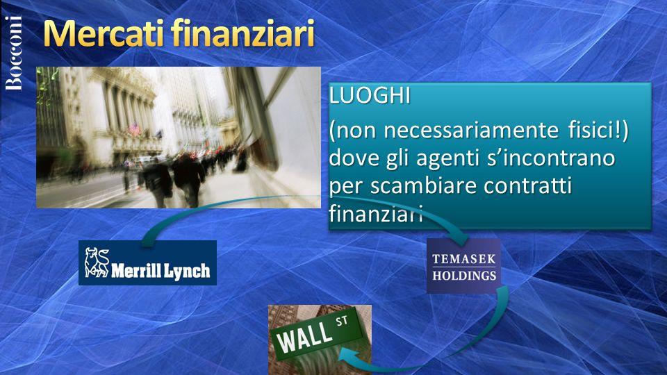 Mercati finanziari LUOGHI