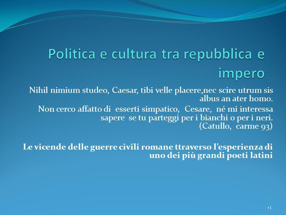 Politica e cultura tra repubblica e impero