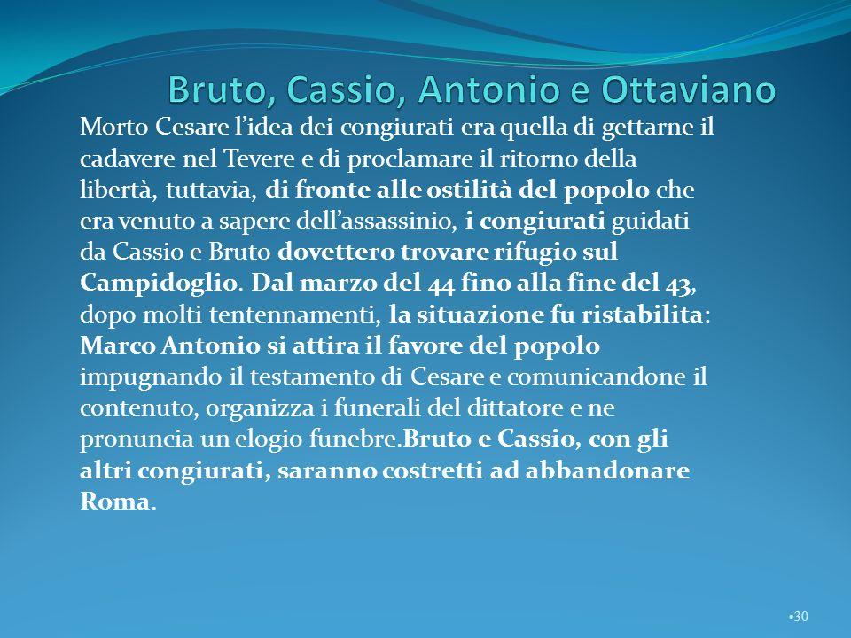 Bruto, Cassio, Antonio e Ottaviano