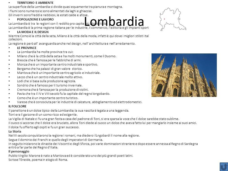 Lombardia TERRITORIO E AMBIENTE