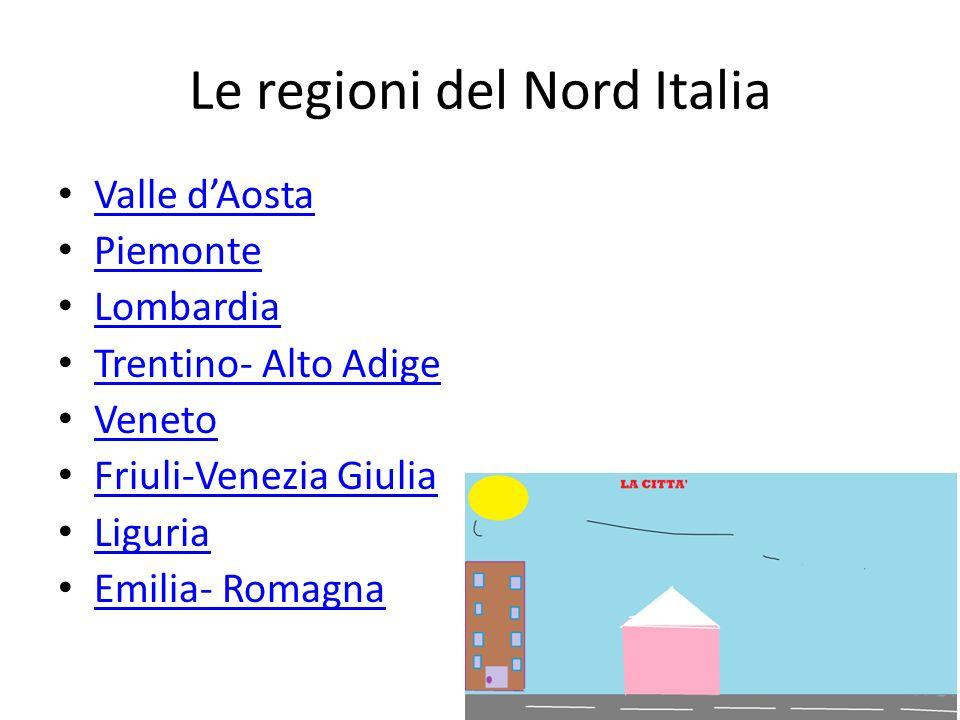 Le regioni del Nord Italia