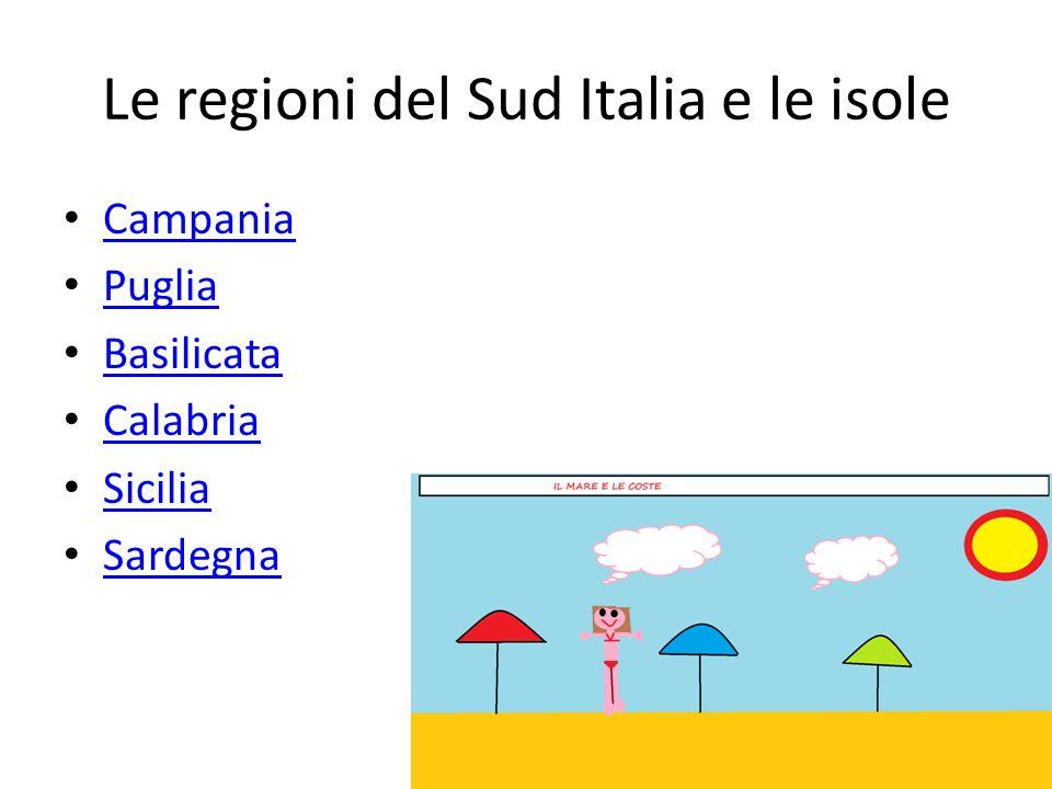 Le regioni del Sud Italia e le isole