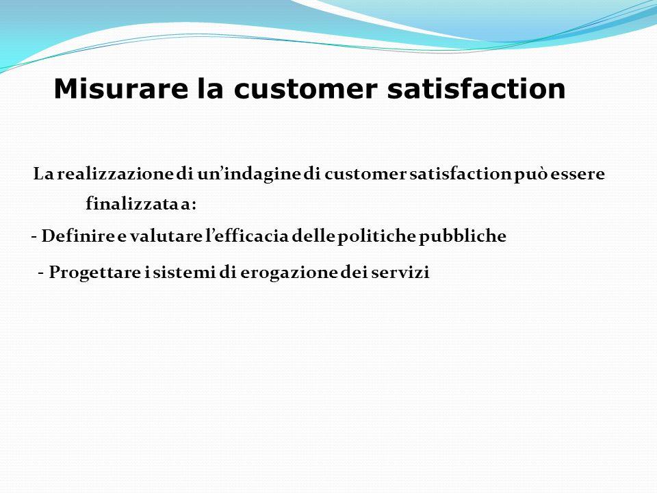 Misurare la customer satisfaction