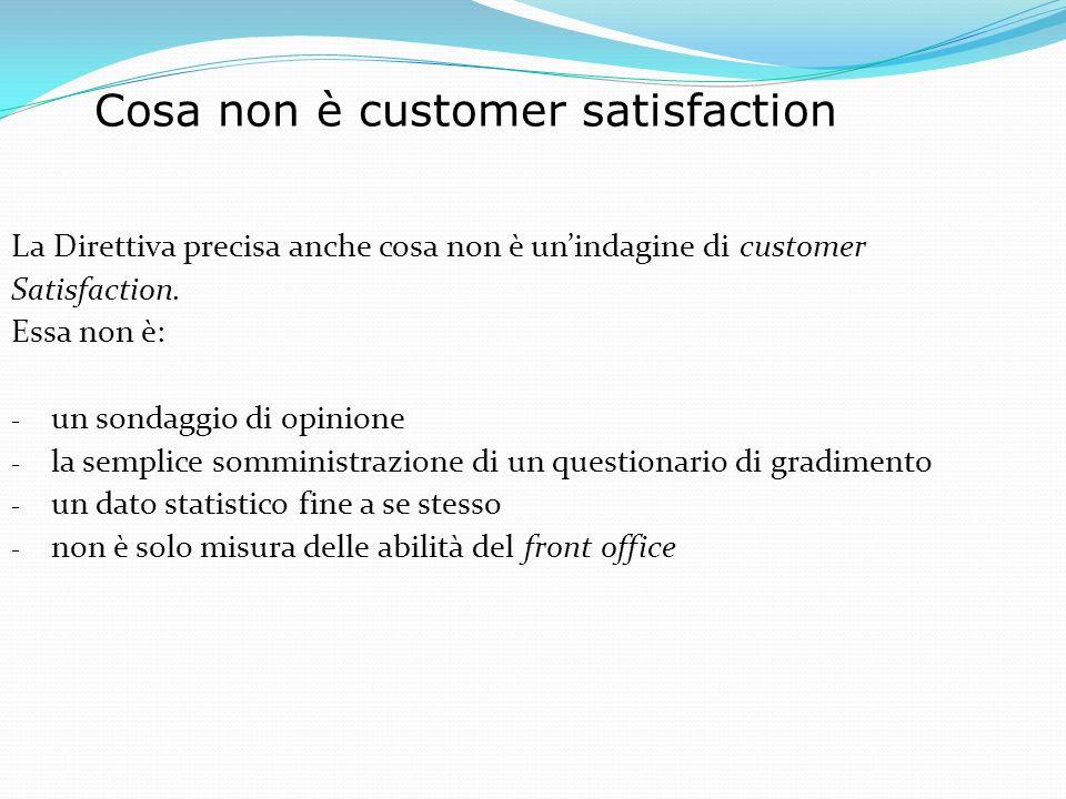 Cosa non è customer satisfaction