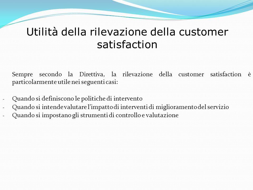 Utilità della rilevazione della customer satisfaction