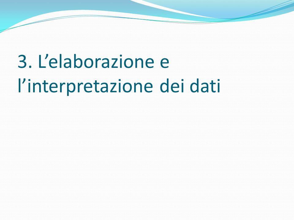 3. L'elaborazione e l'interpretazione dei dati
