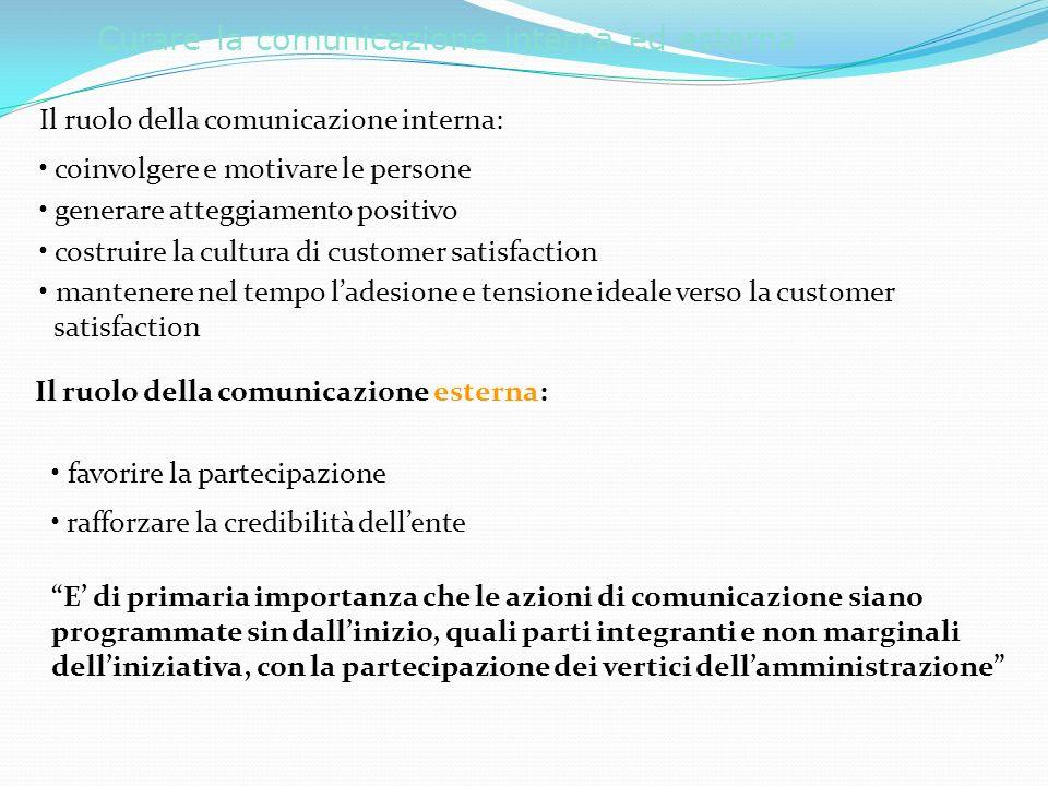 Curare la comunicazione interna ed esterna