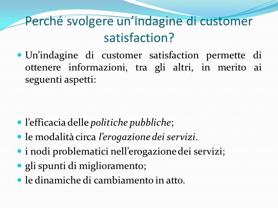 Perché svolgere un'indagine di customer satisfaction