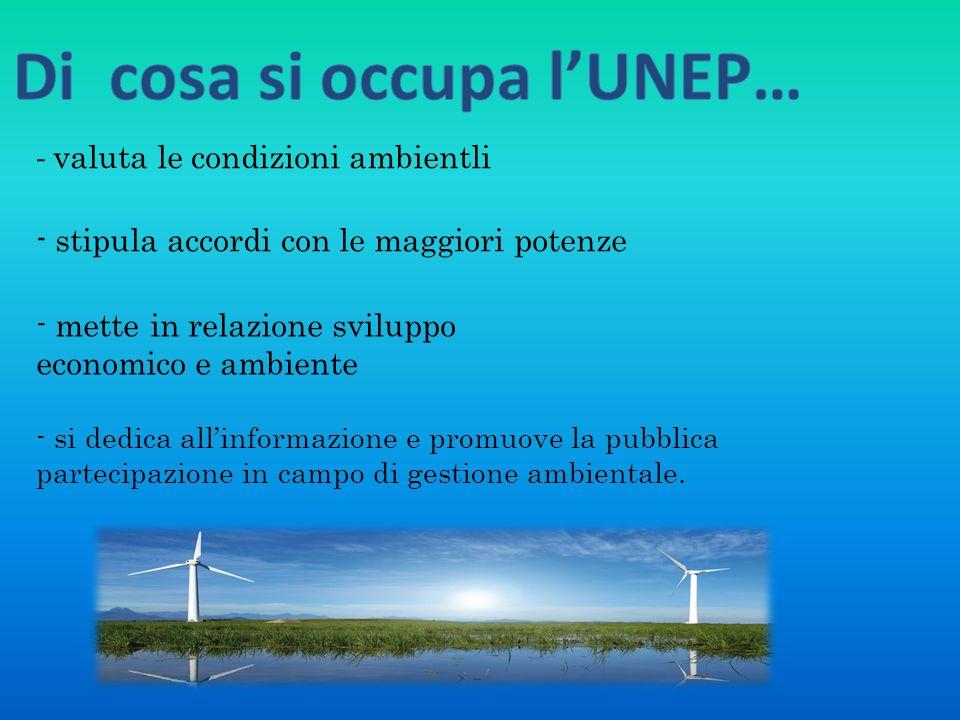 Di cosa si occupa l'UNEP…