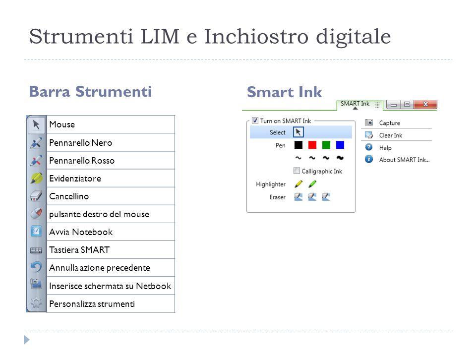 Strumenti LIM e Inchiostro digitale