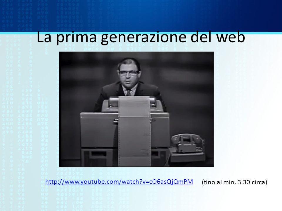 La prima generazione del web
