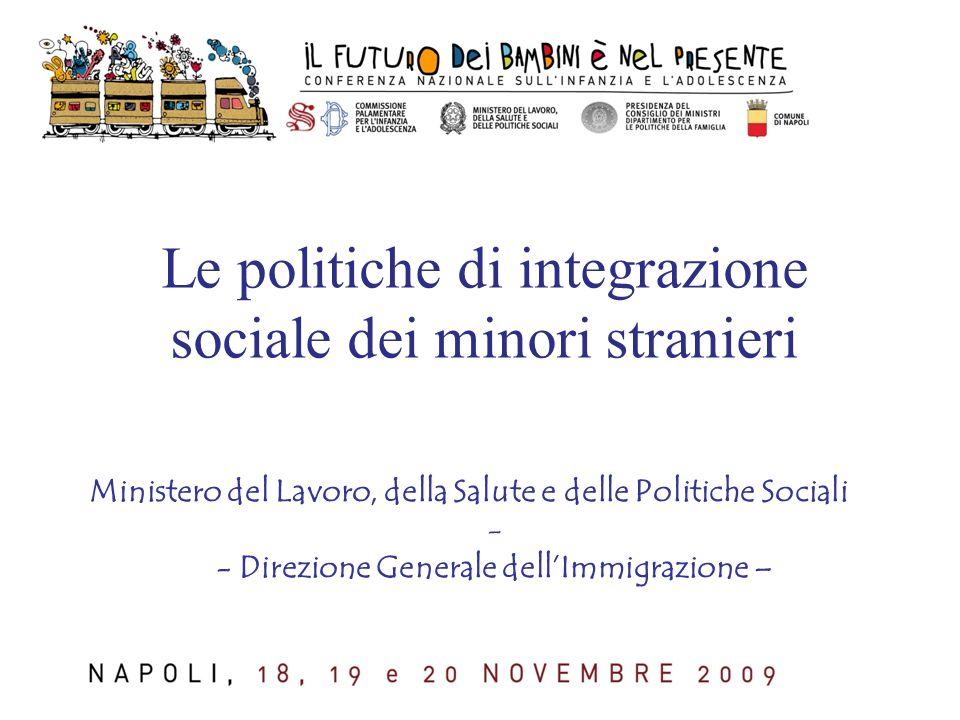 Le politiche di integrazione sociale dei minori stranieri