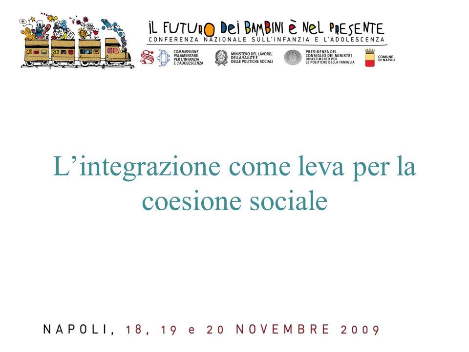 L'integrazione come leva per la coesione sociale