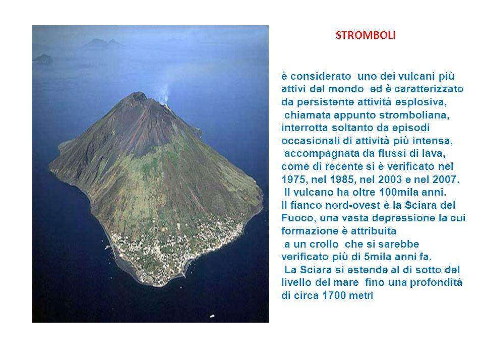STROMBOLI è considerato uno dei vulcani più attivi del mondo ed è caratterizzato da persistente attività esplosiva,