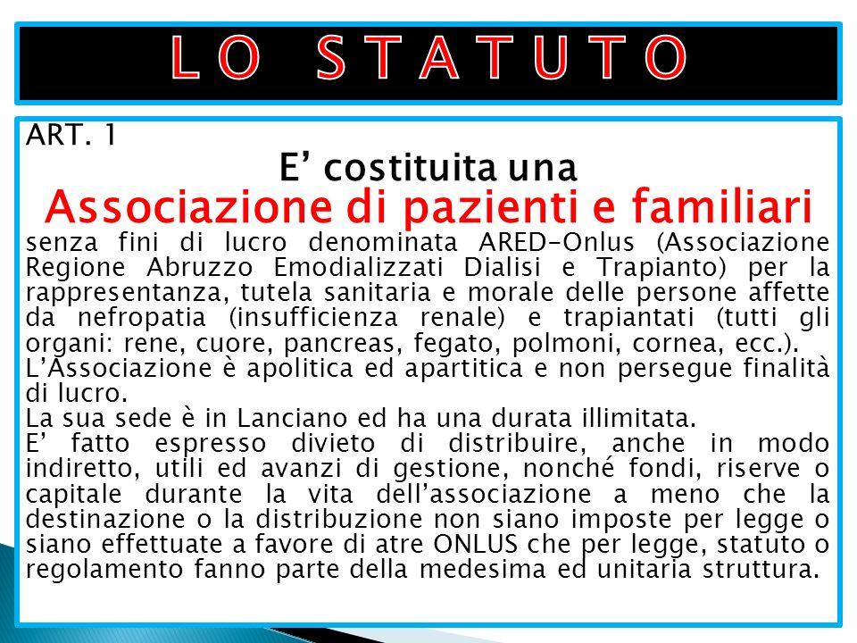 Associazione di pazienti e familiari
