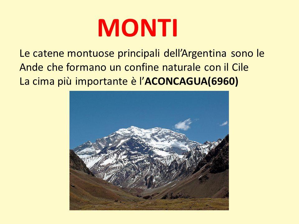 MONTILe catene montuose principali dell'Argentina sono le Ande che formano un confine naturale con il Cile.