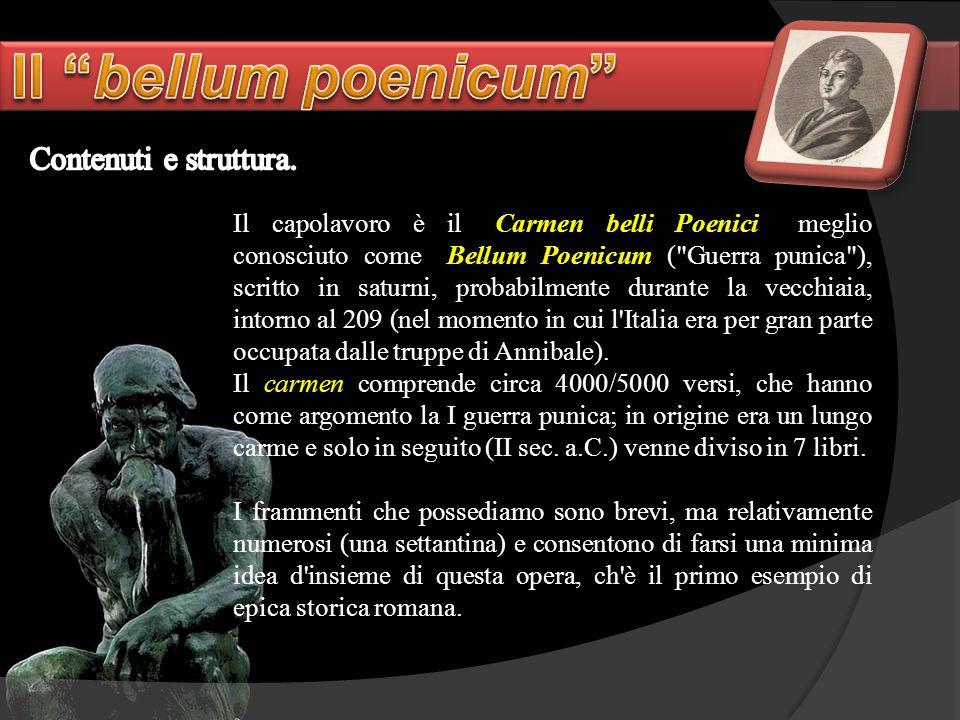 Il bellum poenicum Contenuti e struttura.