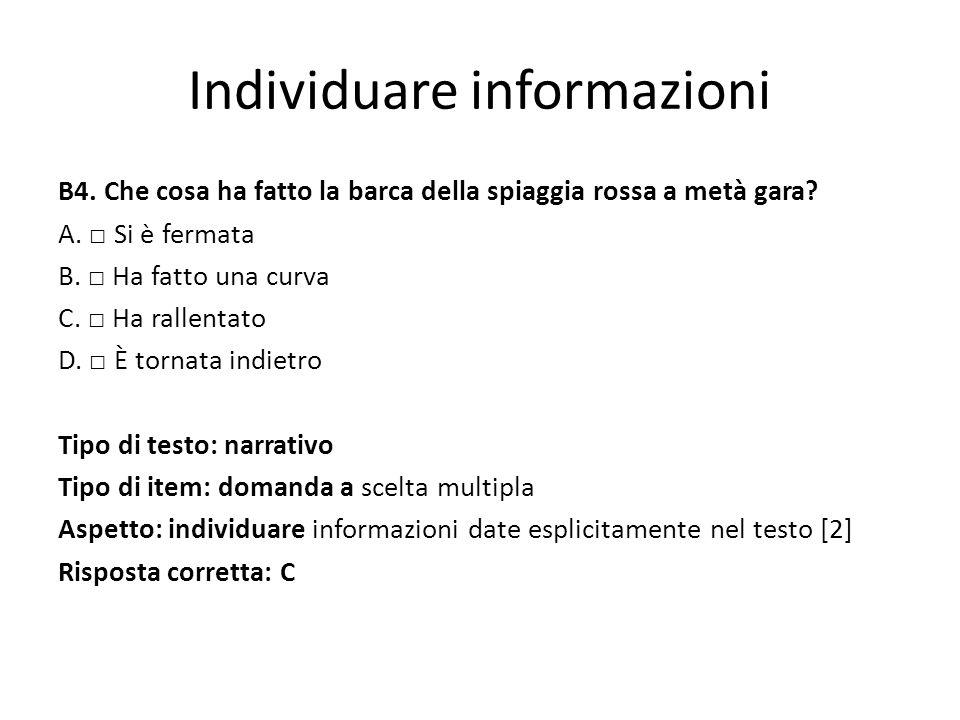 Individuare informazioni