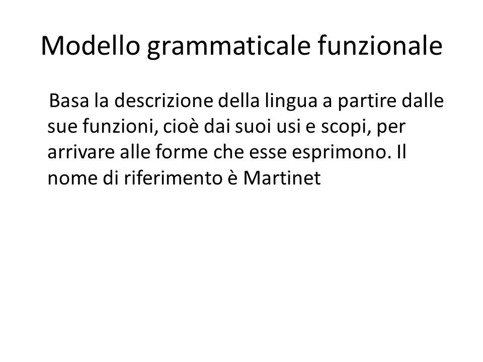Modello grammaticale funzionale