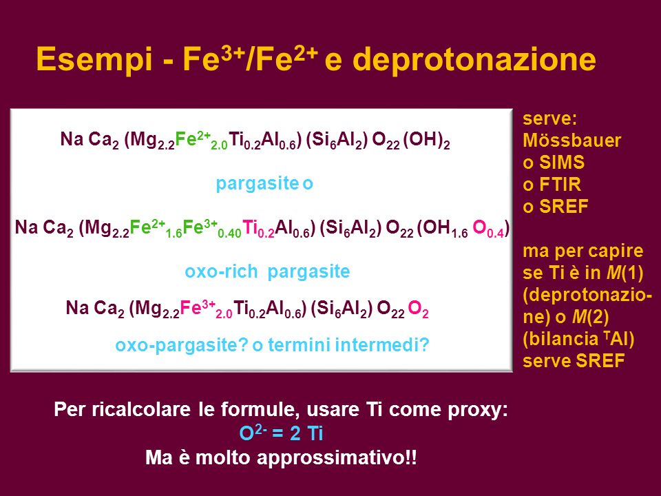 Esempi - Fe3+/Fe2+ e deprotonazione