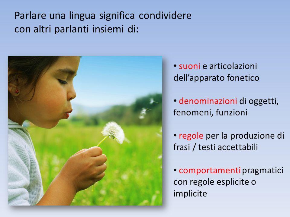 Parlare una lingua significa condividere