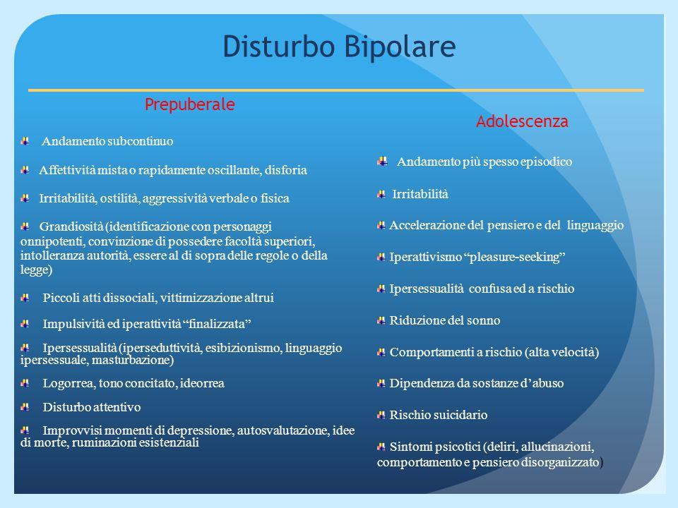 Disturbo Bipolare Prepuberale Adolescenza