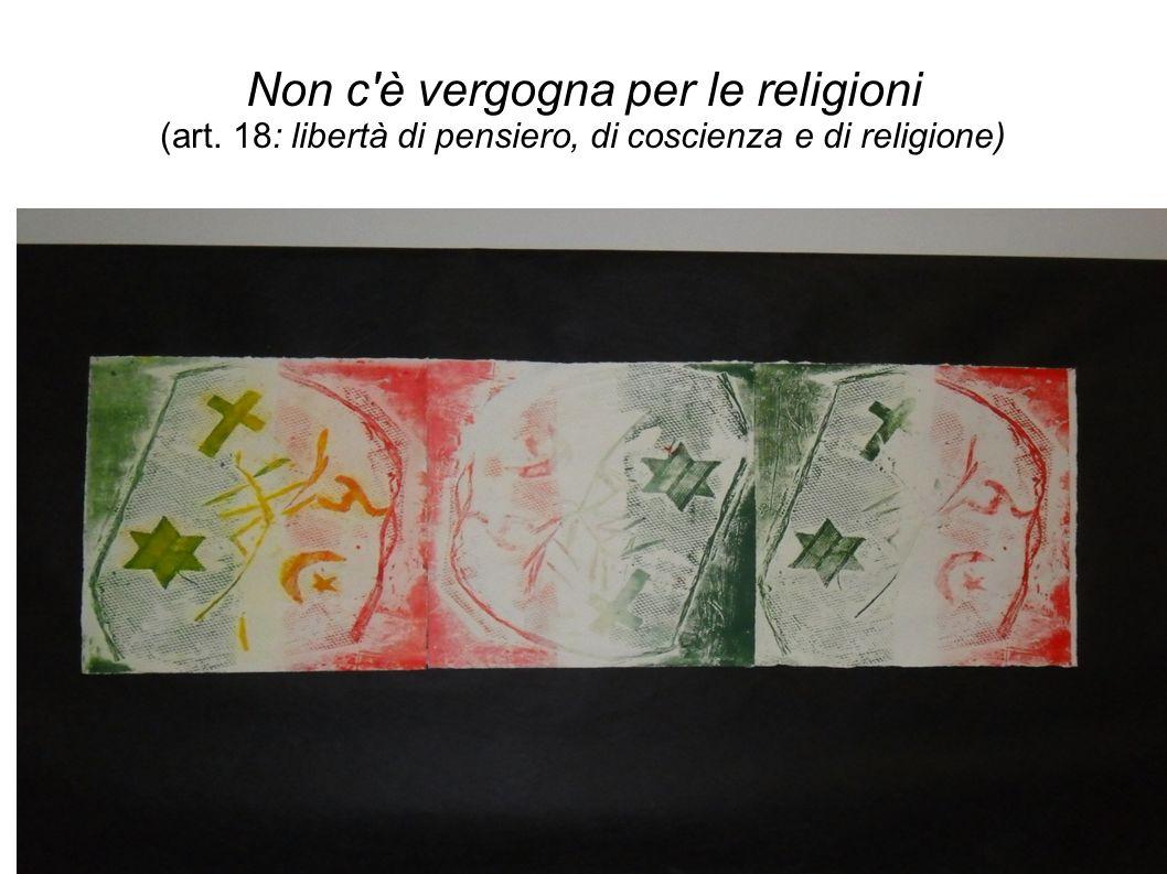 Non c è vergogna per le religioni (art