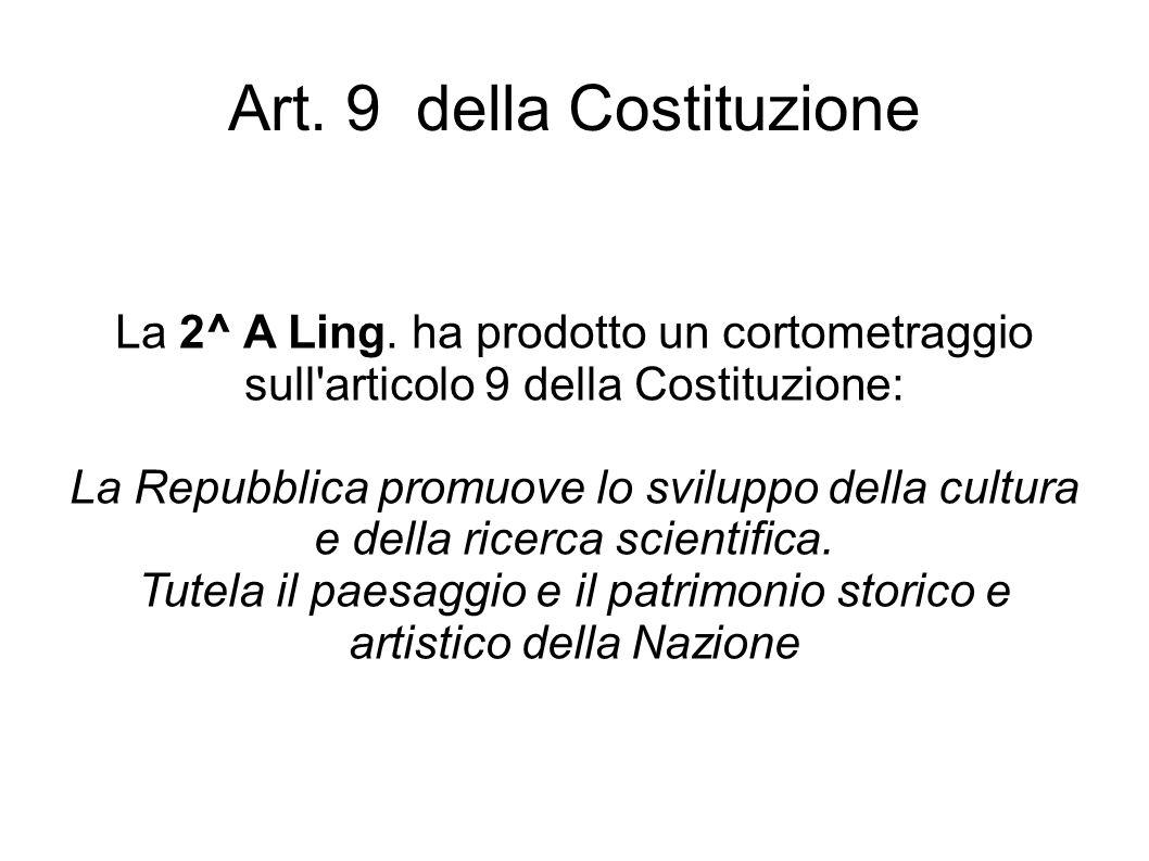 Art. 9 della Costituzione