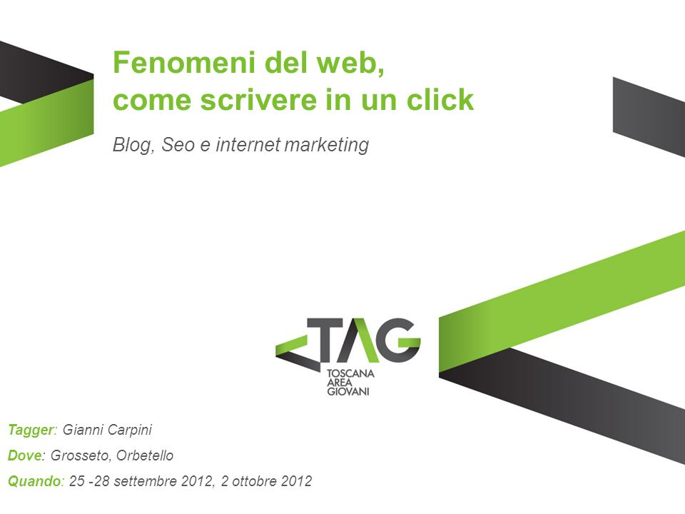 Fenomeni del web, come scrivere in un click