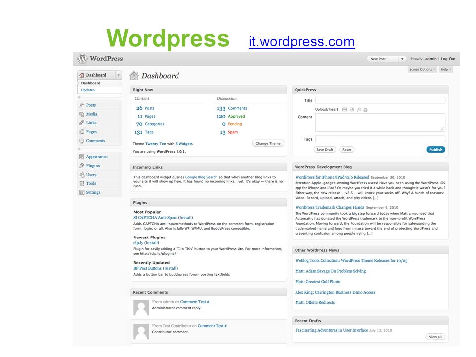 Wordpress it.wordpress.com
