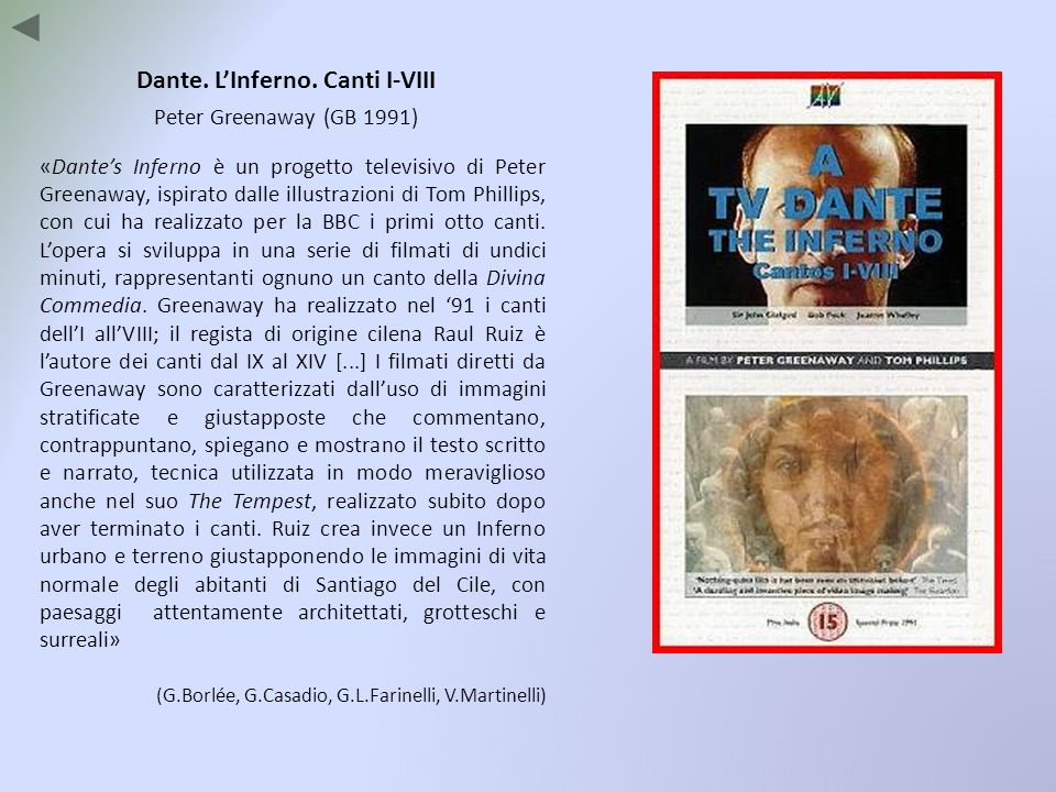 Dante. L'Inferno. Canti I-VIII