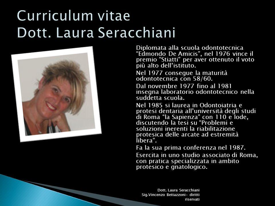 Curriculum vitae Dott. Laura Seracchiani