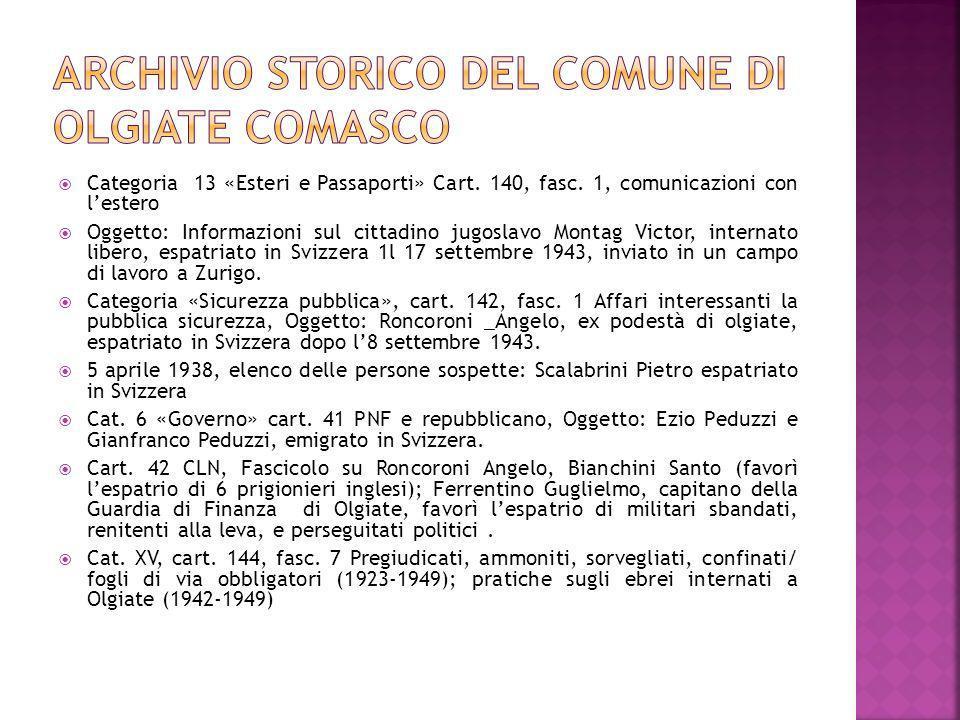 Archivio storico del Comune di Olgiate Comasco