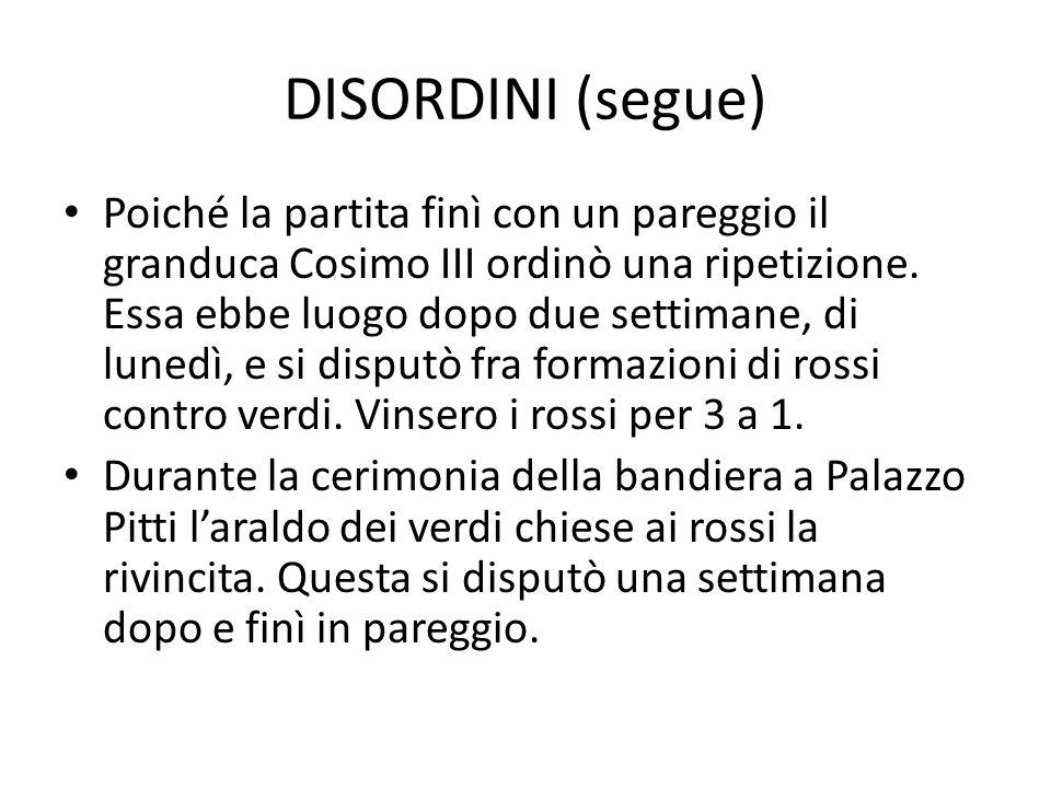 DISORDINI (segue)