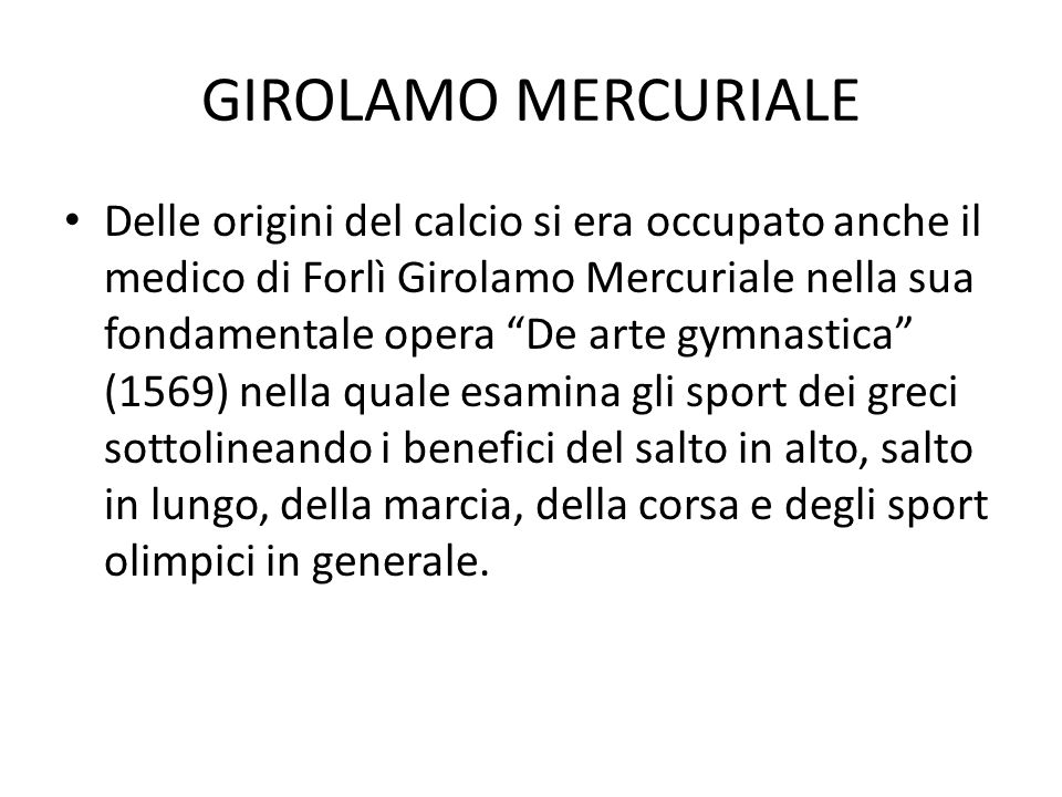GIROLAMO MERCURIALE