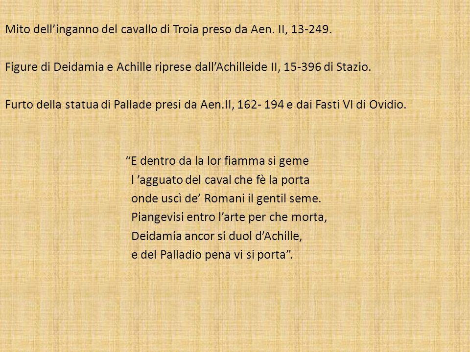Mito dell'inganno del cavallo di Troia preso da Aen. II, 13-249