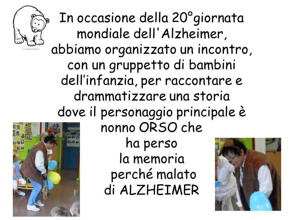 In occasione della 20°giornata mondiale dell Alzheimer,
