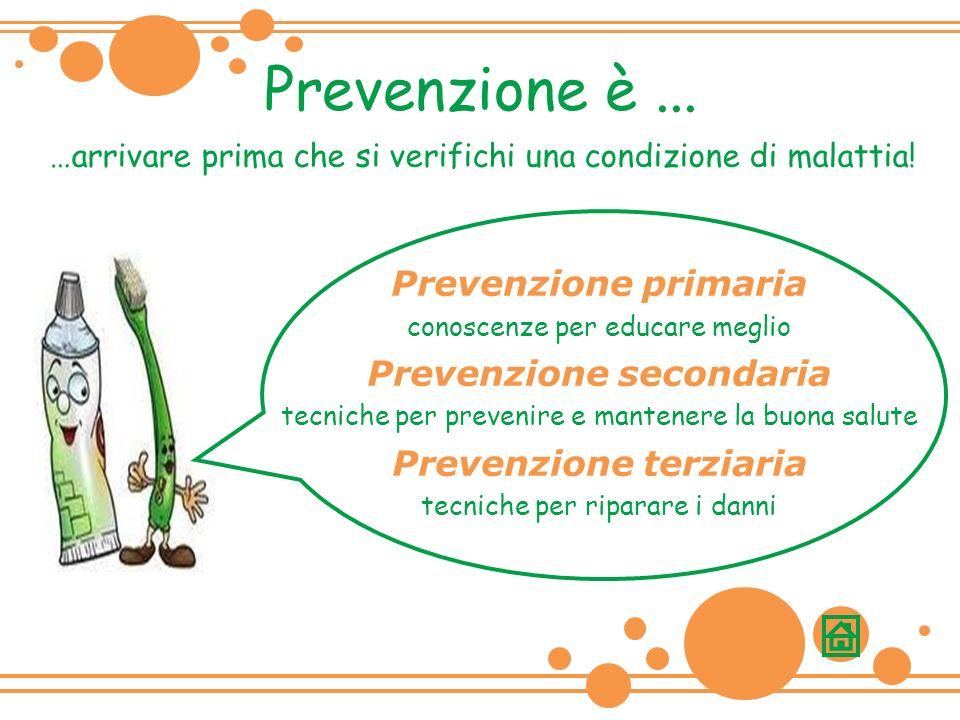 Prevenzione secondaria Prevenzione terziaria