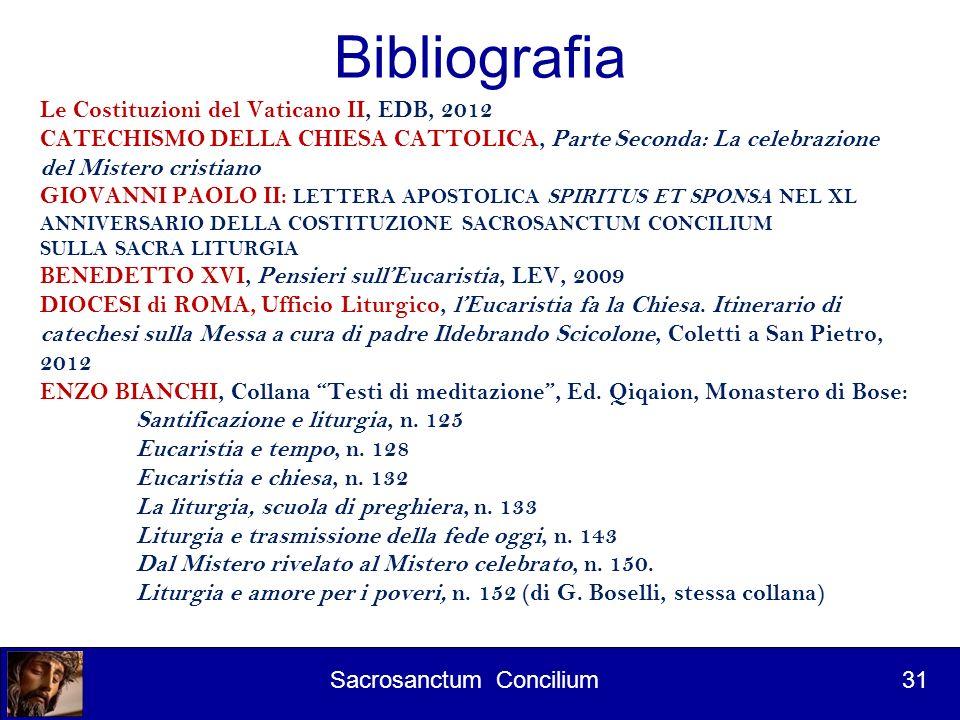 Bibliografia Le Costituzioni del Vaticano II, EDB, 2012
