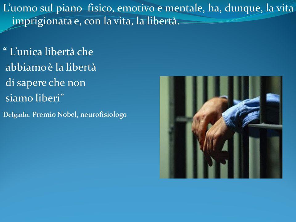 L'uomo sul piano fisico, emotivo e mentale, ha, dunque, la vita imprigionata e, con la vita, la libertà.
