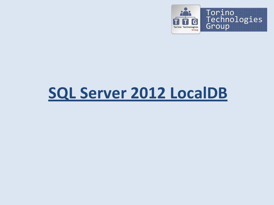 SQL Server 2012 LocalDB