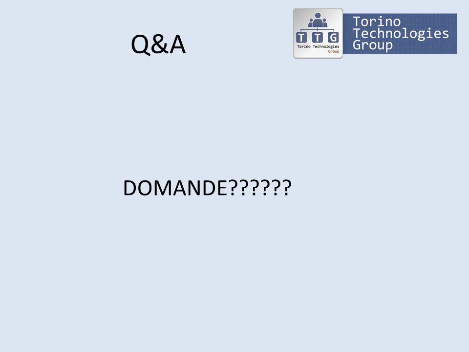 Q&A DOMANDE