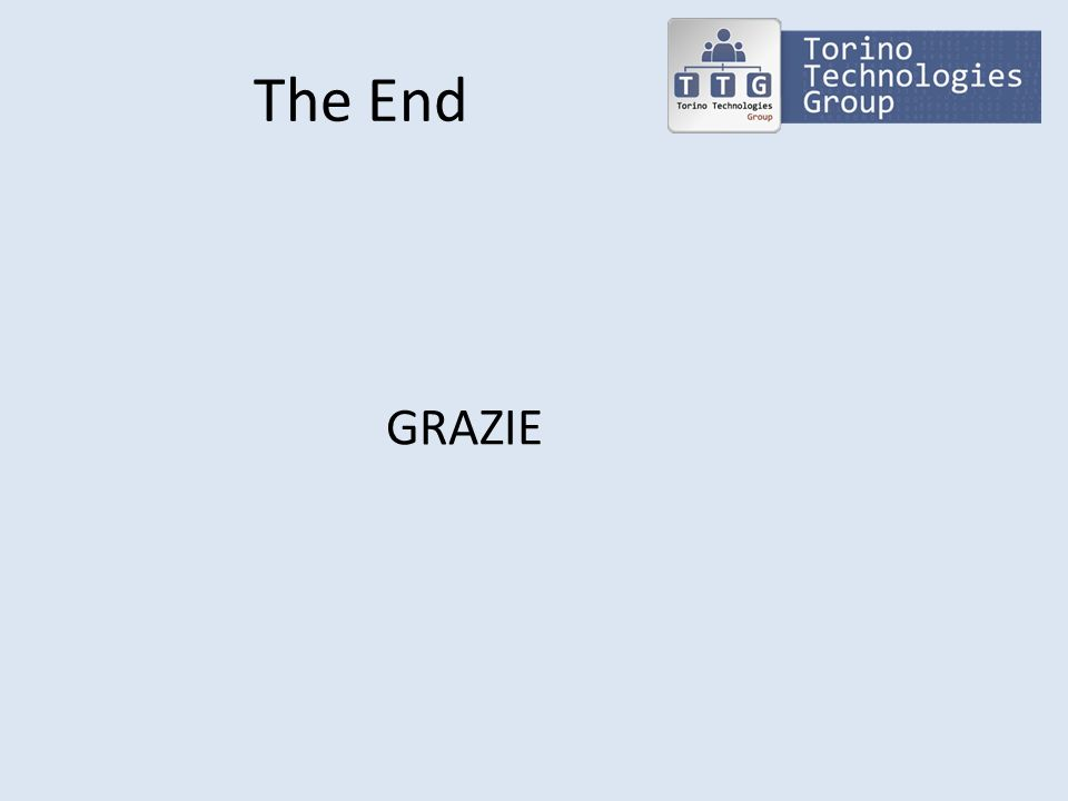 The End GRAZIE