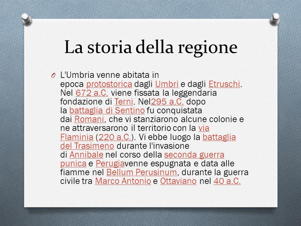 La storia della regione