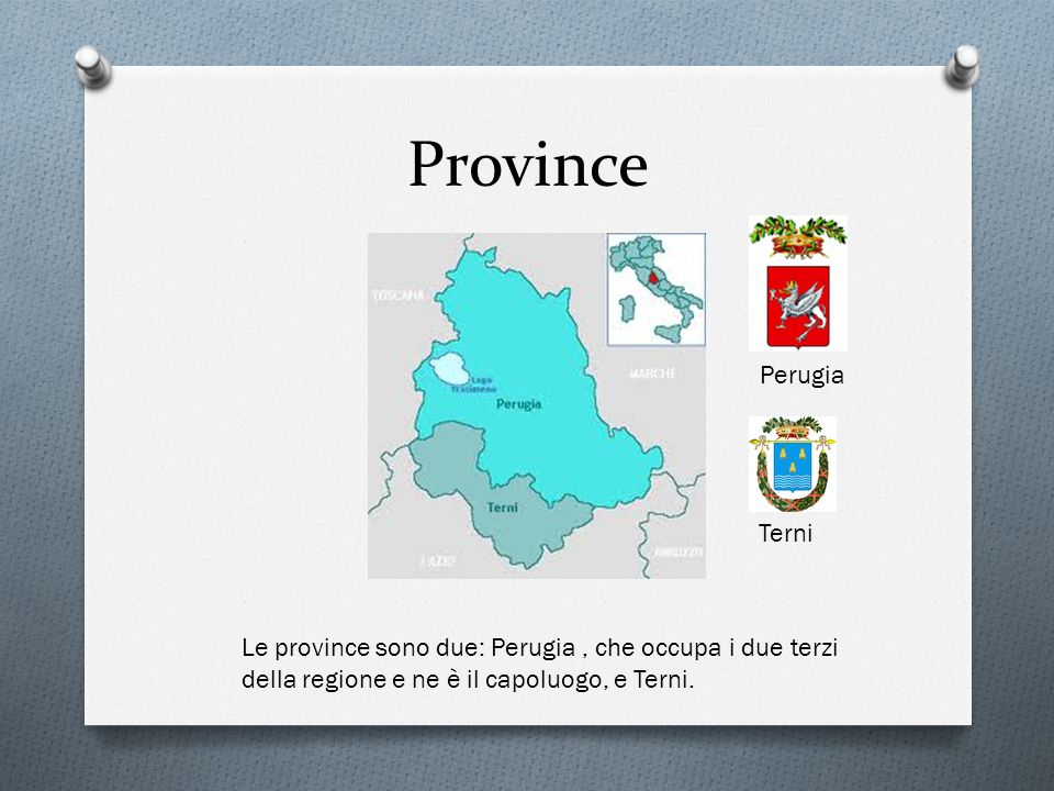 Province Perugia Terni