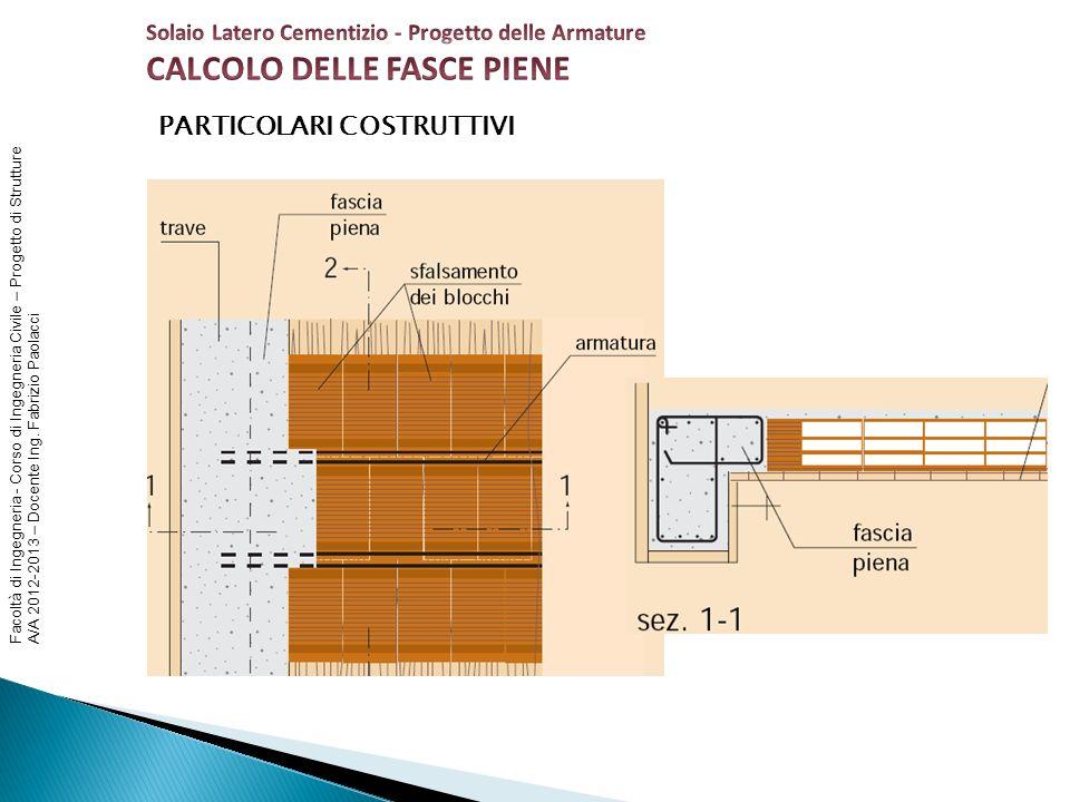 CALCOLO DELLE FASCE PIENE